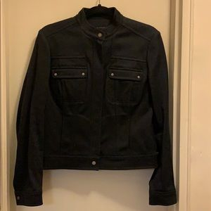 Black denim Moto Jacket